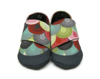 Soft Sole Baby Shoes, Summer Crib Shoes, Baby Moccasins, Baby Girl Shoes, Toddler Slippers, Fabric Baby Slippers, Baby Booties, 12-18M