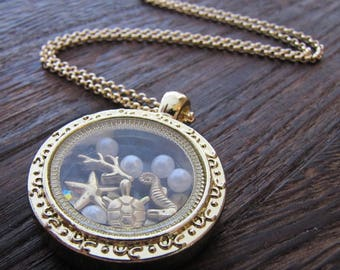 Beach Necklace, Seahorse Necklace, Beach Jewelry, Sealife, Beach Fashion, Ocean, Sea, Mermaid, Jeweled Sea horse, Rhinestone Seahorse