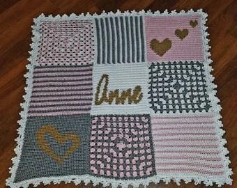 Custom baby blanket - heirloom baby blanket - Keepsake blanket - made to order