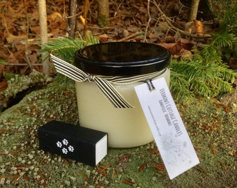 Handpoured 12oz Pure Soy Candle Jar with Black Metal Lid-Vermont Cottage Candles