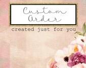 Custom listing for Erin Schellinger - Champagne Bridal Sash and Birdcage Blusher Veil