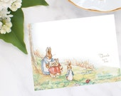 Peter Rabbit & Family Thank You Note Cards