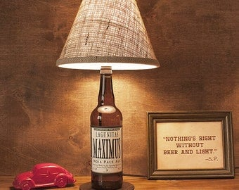 Handmade, Lagunitas, Beer, Bottle Lamp, Maximus, IPA, Free US Shipping
