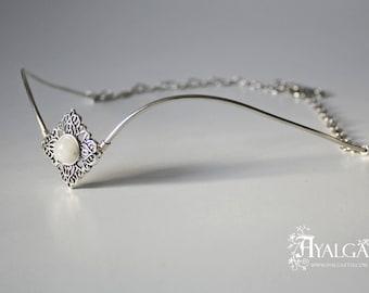 Forehead tiara  - Moonstone