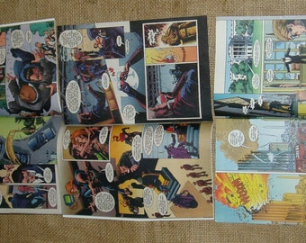 Superhero 16 Comic Book Pages, G. I. Joe, Upcycle, Scrapbooking or Art Project Supplies