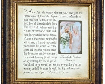 Mother of the Bride Gift, Parents Thank You Mom Dad Wedding Frame,wedding guestbook, unique wedding cake topper, love topper 16 X 16