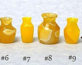 Dollhouse Miniature OOAK Turned Acrylic Vases IGMA Fellow Linda Master Miracle Chicken