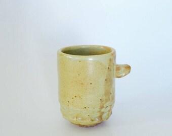 Soda Fired Espresso Cup (yellow white)