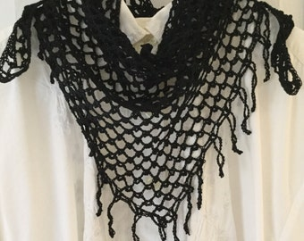 Triangle Lacy Scarf