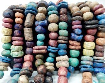 22 Assorted stoneware clay beads appropriate for earrings BEST SELLER…. NO 667.
