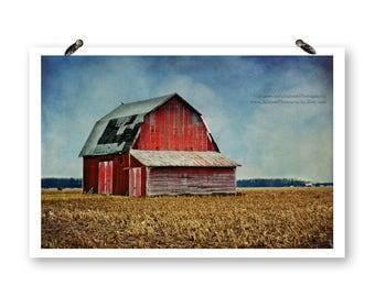 Ohio Barn, Fine Art Photography Print, Ohio Photography, Barn Photography, Rural Photography, Country Farmhouse, Barn Prints, Old Red Barn