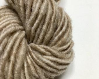 Treasure - Handspun Yarn - 64 yds - Bulky Weight - Corespun - Baby Alpaca - USA grown - Treasure