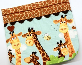 MORE2LUV Zoe the Giraffe Cross Stitch Embroidery Project Bag