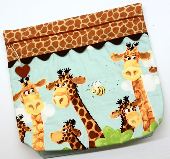 MORE2LUV Zoe the Giraffe Cross Stitch Embroidery Project Bag