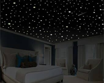Romantic Bedroom Decor, 1100+ Glow in the Dark Stars, Romantic Gift, Romantic Wall Decal, Anniversary Gift, Ceiling Stars, Removable Stars