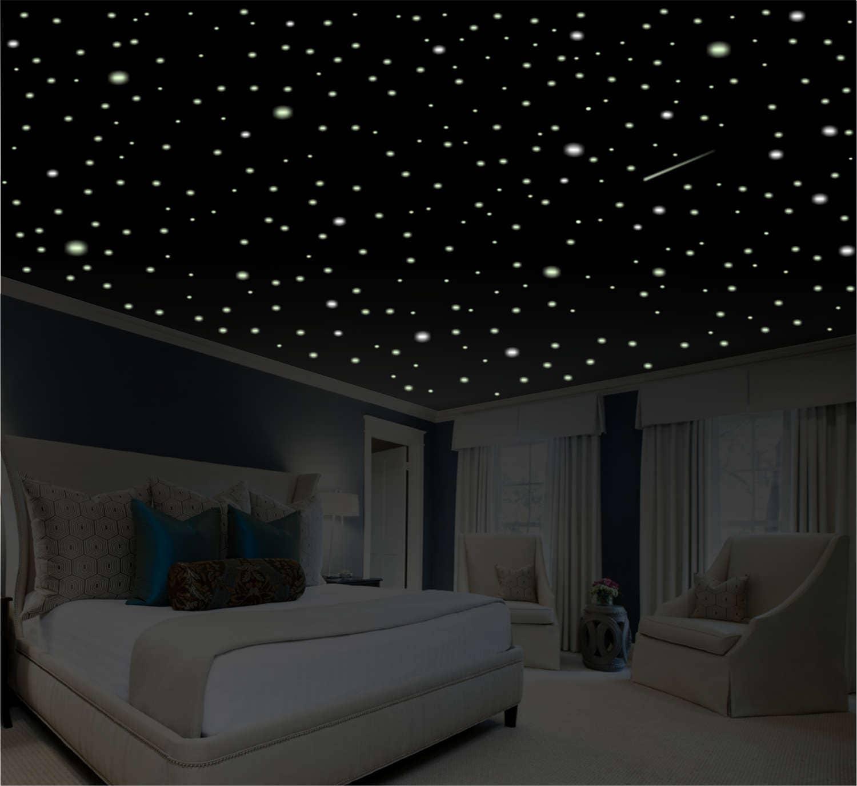 Glow Stars For Ceiling: Romantic Bedroom Decor 1100 Glow In The Dark Stars Romantic