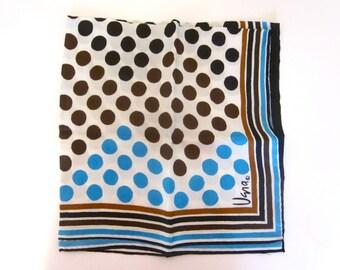 Vintage Vera Neumann scarf, silk polka dot square scarf