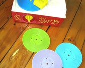 Vintage Fisher Price Music Box Record Player #995