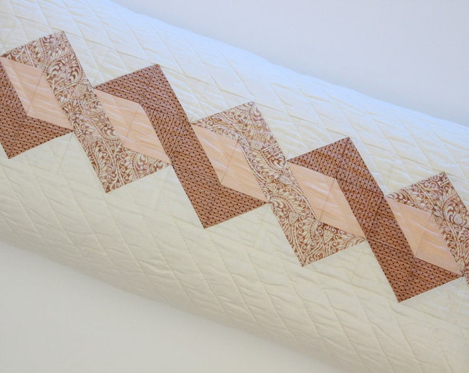 Peach Blush Quilted Patchwork Pillow Cover