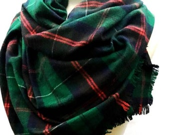 Hunter Green Blanket Etsy