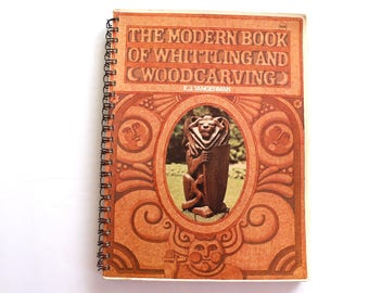 Vintage The Modern Book of Whittling and Woodcarving / E.J. Tangerman 1973 Woodworking Carving Models Miniatures Birds Toys Masks Noahs Ark