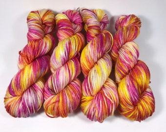 Oscar Worsted, Hand Dyed Yarn, worsted weight, superwash merino, Bean Candy