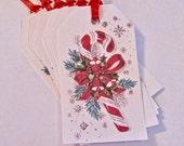 Christmas Candy Cane Gift Tags, Thank You, Wedding, Birthday, Hang Tags Lot of 8
