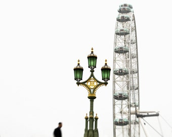 "London photography, London art print, London Eye, large photography - ""The Last Time In London"""