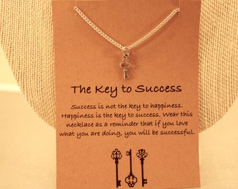 Key To Success: The Key to Success wish necklace, Friendship Necklace, Best Friends, Friendship Jewelry, Key Necklace