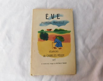 Vintage 1950's French Childrens Book Eve Premiere Mortelle Paris France Box A