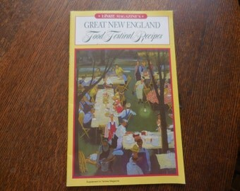 Vintage 1960s to 1970s Yankee Magazine's Great New England Food Festival Recipes Retro Soft Cover Small Supplement to Yankee Mag.