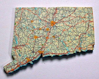 CONNECTICUT State Map Wall Decor | Vintage Maps | Perfect Gift for Any Occasion | Gallery Wall | Small Size