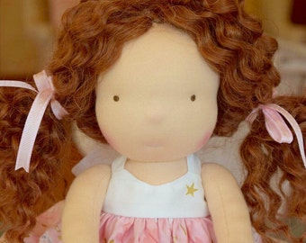 Waldorf doll- Steiner doll- handmade doll- cloth doll- fibre art dolls- waldorf toy by Debs Steiner Dolls. Deposit for March'17 custom doll