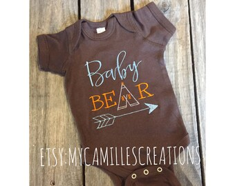 Baby Bear Bodysuit or Shirt - Embroidered