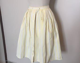50s Yellow Striped Skirt
