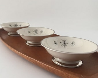 Atomic Starburst Mid Century China, Small Dessert, Fruit, Sauce Bowls, Romance of the Stars, Set of 4 or 8 or 12