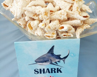 Shark Tent Style Buffet Labels Printable - Instant Download - Shark Reef Collection