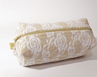 Bridesmaids Cosmetic Bag, Will You Be My Bridesmaid Gift Idea, Toiletry Bag Unique Wedding Gift