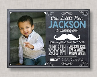 Little Man Birthday Invitation, Little Man Birthday, Mustache Birthday Invitation, Little Man Invitation, Mustache Bash Invitation, Mustache