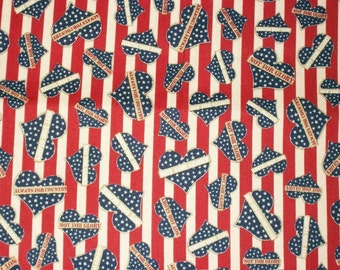 Patriotic Fabric, Americana Fabric, By The Yard, Quilting Treasures Fabric, Fourth of July, Homefront Girl Collection, Quilting Fabric