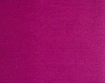 Dark Pink Solid Color Fabric, Polyester/Cotton Blend, Fabric by the Yard