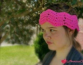 Peaks and Valleys Headband Crochet Pattern