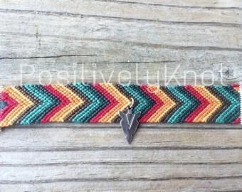 Bohemian Tribal Chevron Arrowhead Friendship Bracelet