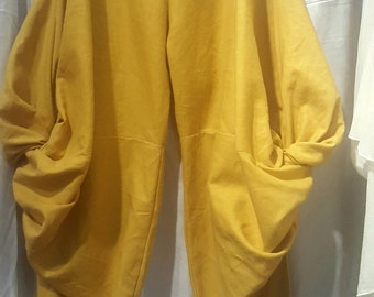 Harem Pants, handmade, linen cotton, S/M