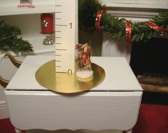 Miniature Dollhouse Santa Paper Cut-Out 1:12 Scale