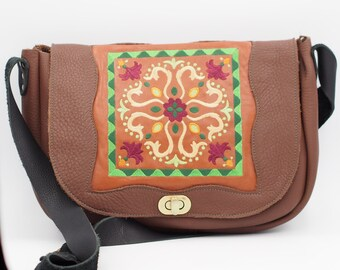 Ukranian Motif Messenger Bag