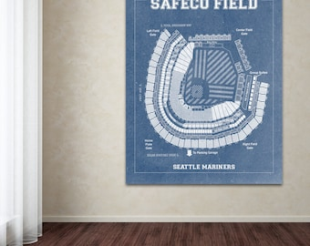 Print of vintage astrodome seating chart seating chart on print of vintage safeco field seating chart on photo paper matte paper or canvas malvernweather Choice Image