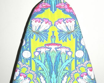 Tabletop Ironing Board Cover - Amy Butler Fabric Soul Blossoms Fuchsia Tree Chartreuse - Cleaning supply