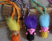 Troll Doll Pouch Child or Geek Necklace (choose 1)