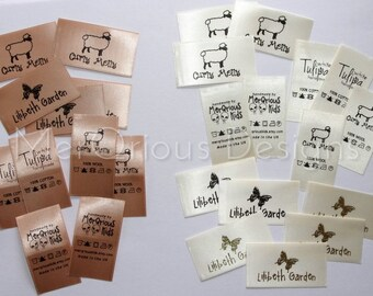 Satin Labels. Clothing Labels.  Personalized labels. Name Tags. Fabric Labels. Custom Fabric Labels